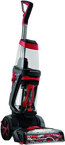 BISSELL 1858N ProHeat 2X Revolution - Pulitore per Tappeti, Tappeti Asciutti in Circa 1 ora, 800 W, 3.7 L, Grigio Titanio/ Rosso