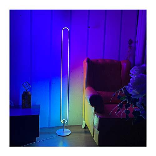 JYOKK Minimalistische LED Eck-Stehleuchte Mit RGB Dimmbare Fernbedienung Farbtemperaturen Und Helligkeit Stufenlos Dimmbar Ambient Ecklichter