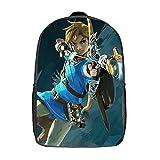 The Legend of Zelda Cartoon Backpacks for Boys Kids Elementary School Students Bookbag Computer School Travel Business Backpack