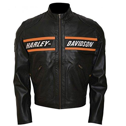 Giacca Biker Harley Bill Goldberg Davidson Rosso Fumo Nero XX-Small