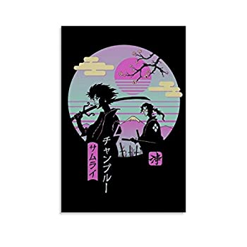 Retrowave Anime Samurai Champloo Retro Vibe Poster Decorative Painting Canvas Wall Art Living Room Posters Bedroom Painting 12x18inch 30x45cm