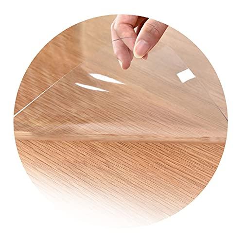 ZWYSL Personalizable Protector Suelo Silla Alfombrilla Alfombrillas de PVC Antideslizantes Alfombrillas Resistentes a los Arañazos Fuerza Alto Impacto (Color : Clear-2mm, Size : 160x230cm)