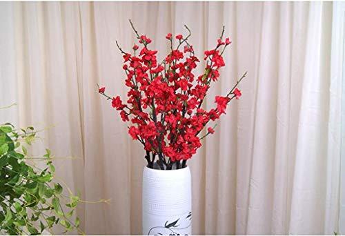 Perzik bloesem simulatie bloem bloem bloem bloem decoratie bloem studio rekwisieten perzik boom maken plastic bloem kunstmatige boeket bloem arrangement,Grootte: De hele lengte van ongeveer 110cm, lengte 55cm
