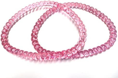 Pink Bead-Like D Shape Plastic Purse Handle 5 1//2 X4 7//8 2 Per Pack