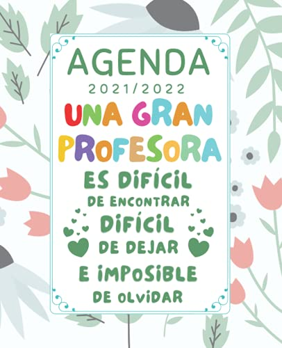 Una Gran Profesora: Agenda Semana Vista 2021 2022 , Regalos originales para profesores Primaria Infantil
