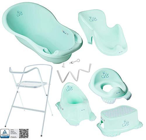Tega Baby ® Baby Badewanne mit Gestell und Verschiedene Sets für Neugeborene mit Babybadewannen +...