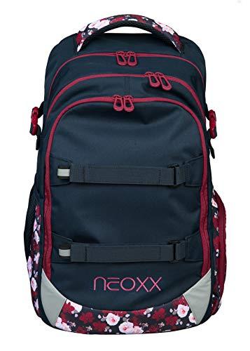 Neoxx Active Schulrucksack My Heart Blooms I Schulranzen für die weiterführende Schule I Rucksack für Mädchen und Jungen I Tornister