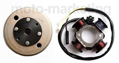 UNTIMERO LICHTMASCHINE STATOR + Rotor POLRAD für TGB 303R 303RS 309RS BR1 Bullet 50
