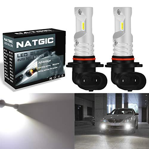 NATGIC H10 9145 9140 Ampoules antibrouillard à led blanc xénon 1700LM CSP Puces pour antibrouillard avant, 12V-24V (lot de 2)