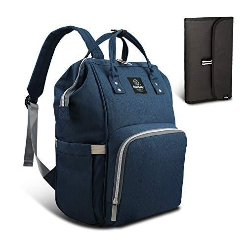 HEYI Diaper Tote Bag - Travel Backpack Organizer, Blue