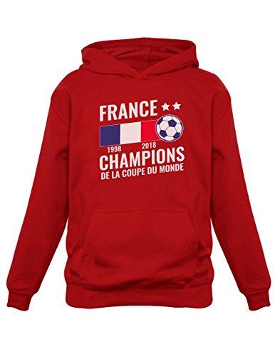 Green Turtle T-Shirts Football Enfant Souvenir de la Coupe du Monde 2018 Sweatshirt Capuche Enfant 11/12A Rouge
