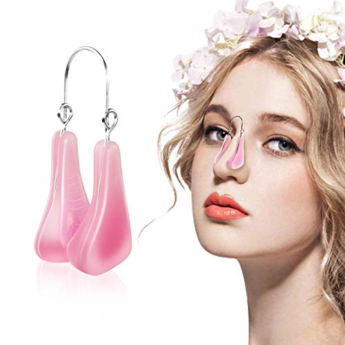 Nose Shaper Lifter Clip, Pain-Free Soft Silicone Corrector Nose Shaper Clip, Professional Nose Beauty Up Lifting, Nose Bridge Straightener Up Tool for Man And Women (Pink)