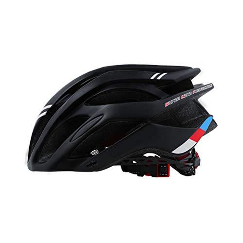 Casco da bicicletta di sicurezza in polistirene + copertura in policarbonato per MTB, casco da bici da corsa, integrale, Nero