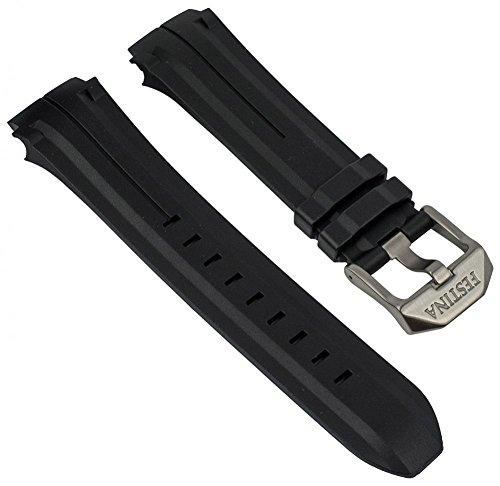 Festina Uhrenarmband Kautschuk schwarz F16882, F16881