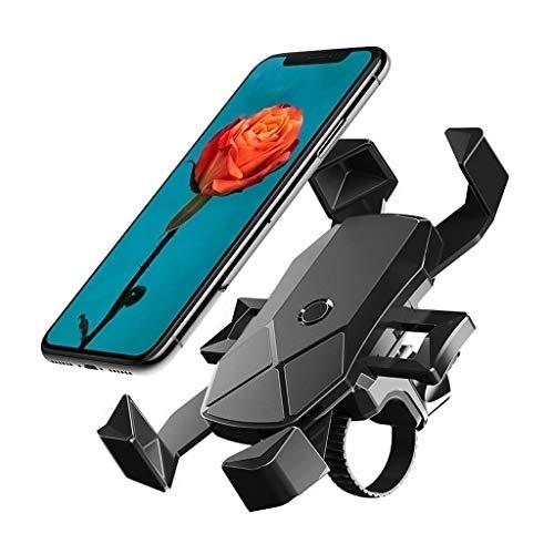 BETOWEY Soporte Movil Moto, 360° Rotación Soporte para Movil Bicicleta Bici Compatible con Telefono de 4.5