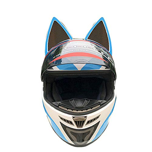 MYSdd Motorradhelm männlich weiblich Persönlichkeit Moto Helm Capacete De Moto weiß Integralhelm Casco Moto - blau XM