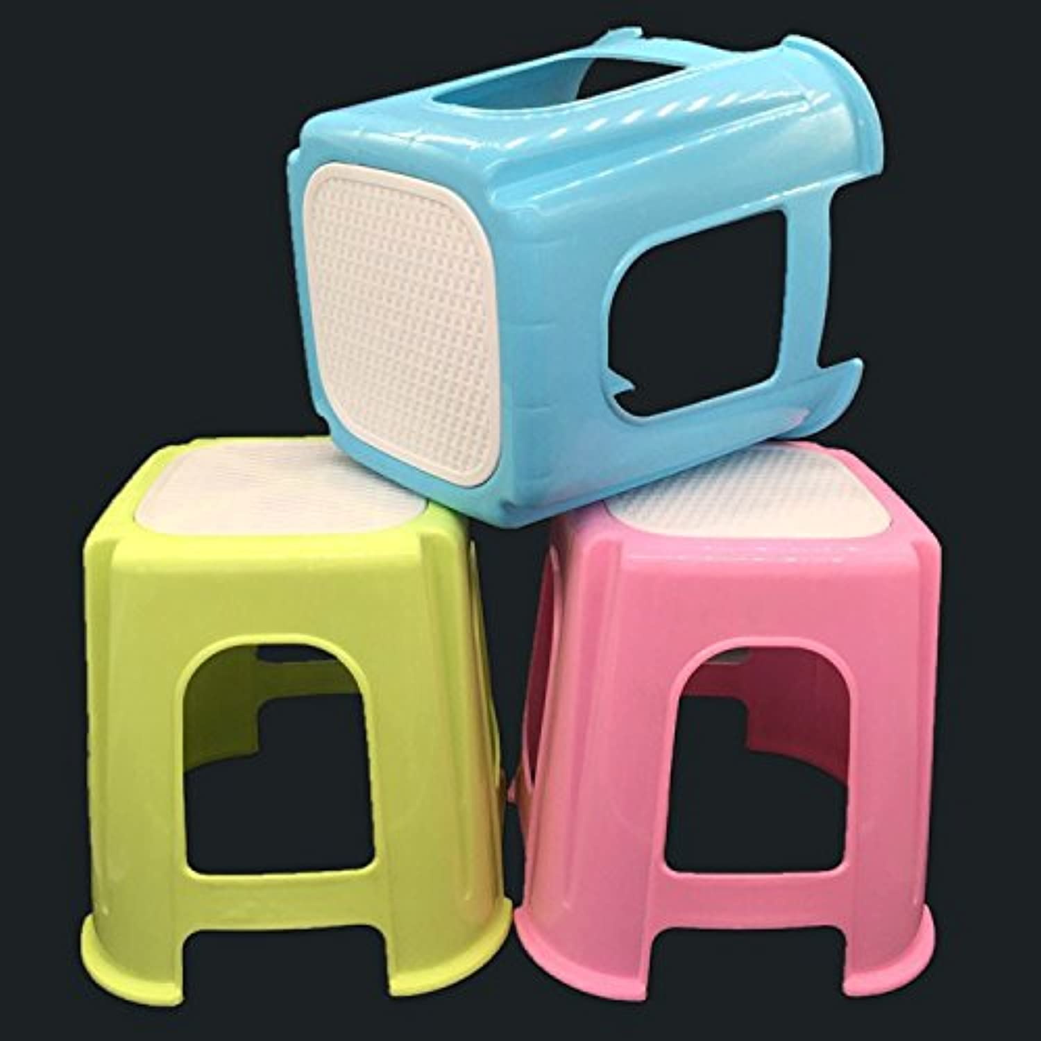 Dana Carrie The plastic square stool thick colord chairs stools 3PCS