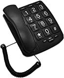 Large Button Phone for Seniors,JeKaVis Amplified Corded...