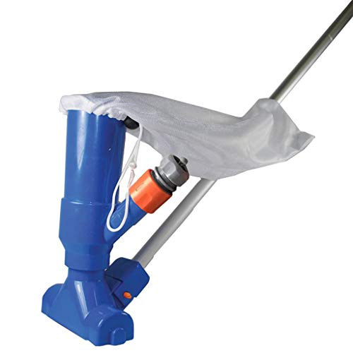 U.S. Pool Supply Portable Deluxe Jet Pool Vacuum Underwater Cleaner with 5 Section Pole, Scrub Brushes, Leaf Bag - for Above Ground Pools, Spas, Ponds, Inflatable Pools - Attaches to Garden Hose