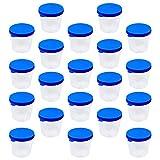 Scicalife 100 Unidades de Vasos de Muestra para Orina Vasos de Plástico para Recolección de Orina Vasos de Muestra con Tapas para Prueba de Embarazo de Laboratorio 40ML