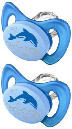 nip Dental Schnuller Miss Denti 38173-51 Doppelpack - Größe 2 Delphin (mit ersten Zähnchen) Dentalschnuller
