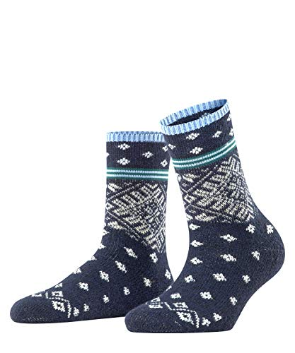 ESPRIT Damen Norwegian Stripe Socken, blau (Storm 6340), 39-42 (UK 5.5-8 Ι US 8-10.5)