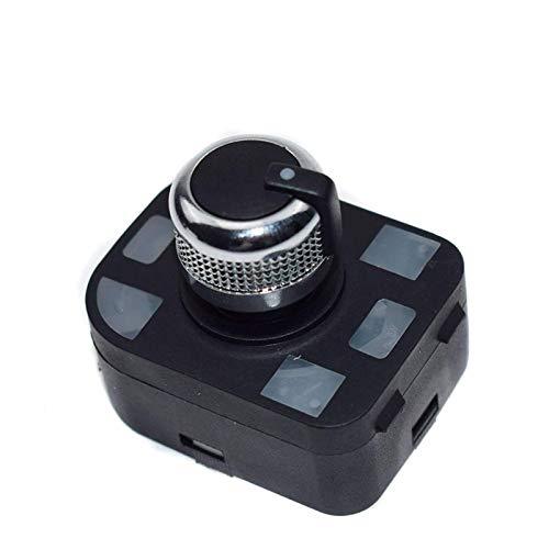 Interruptor de Control del Espejo Interruptor de Espejo de Control de Cromo 4F0959565A Compatible con Audi A4 S4 B6 A6 Quattro Q7 R8 TT 1.8L 2.0L 2001-2012 El plastico