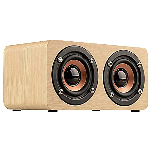 Audio móvil de Bluetooth inalámbrico extraíble, alta altavoz de madera hifi de...
