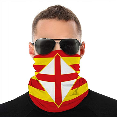 Holefg3b Cubra Cuello Polaina Cubra Sombreros Cubre Sol Diadema Pasamontañas Bandera de Barcelona es una Provincia de España Gorros
