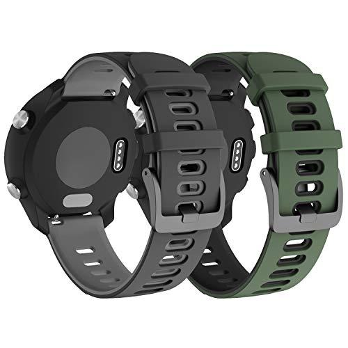 NotoCity per Garmin Vivoactive 3 Cinturino, 20mm Cinturino di Ricambio in Silicone per Samsung Galaxy Active 2 /Gear Sport/Galaxy Watch 42mm/ Garmin Forerunner 645/245(2PCS4)