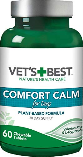 Vet's Best Comfort Calm Calming Dog Supplements Promotes Relaxation and Balanced Behaviour (60 Tablets)