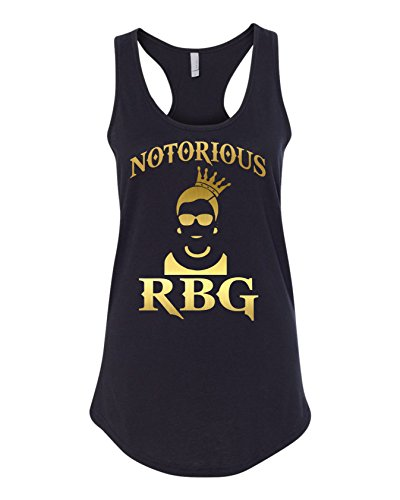 Notorious RBG Ruth Bader Ginsburg Women's Ideal Racerback Tank Top (M) Black