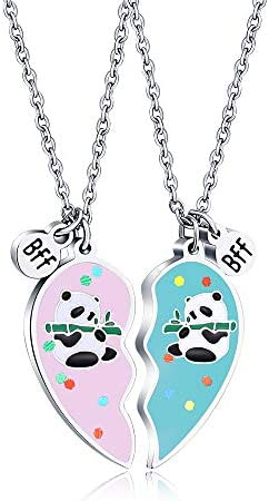 KINGSIN Panda Gifts Bff Best Friend Necklaces for 2 Friendship Panda Necklace for Girls Jewelry product image