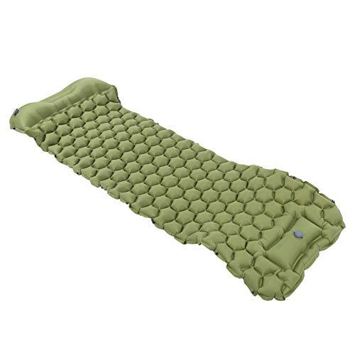 Cojín Inflable, colchoneta para Dormir portátil Resistente al desgarro, tamaño pequeño para Tiendas de campaña y hamacas para Acampar al Aire(Army Green)