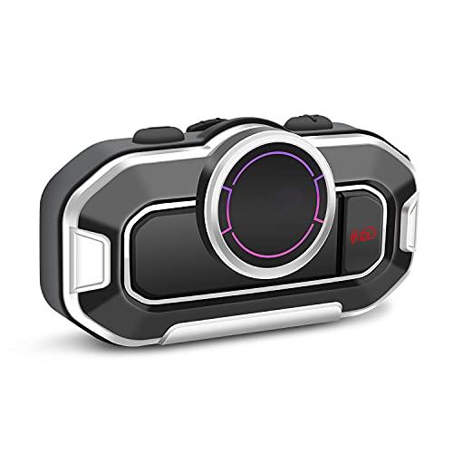 YUNZHIDUAN Auriculares Bluetooth para Casco De Motocicleta, Walkie-Talkie Bluetooth 5.0 para Motocicleta, Radio FM, Estéreo De Reducción De Ruido De Alta Fidelidad, Contestador Automático De Llamadas