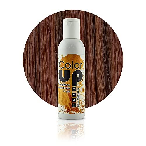 Pop Italy Color Up Tinta Professionale per Capelli in Gel Senza Ammoniaca - 150 ml (6 34 Biondo Scuro Dorato Rame)