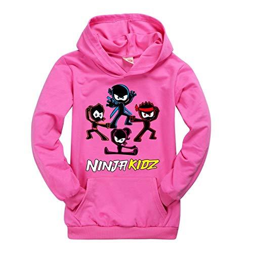Moschin Ropa para niños y niñas adolescentes camiseta Amazon Ninja Kidz suéter...