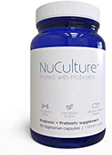 NuCulture Premium Probiotic, Supports Immune System and Digestion, 1-Pack, 30 Veg Capsules