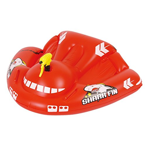 Jilong Shark Fin Rider 119x95 cm Kinderboot Boot Gummiboot Badeboot mit Spritzpistole Schlauchboot Wasser-Spielzeug geeignet für Süß- und Salzwasser