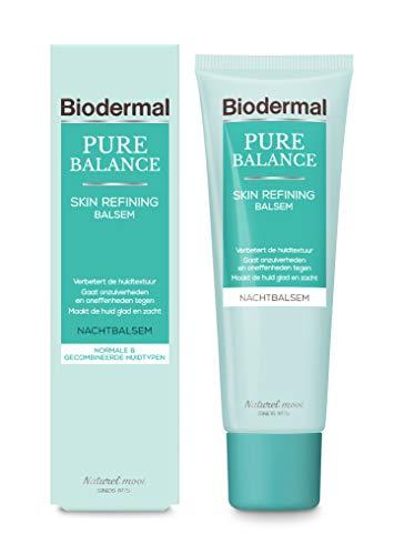 Biodermal Pure Balance Skin Refining Balsem Nachtcreme - verzorgende nachtcrème en speciaal ontwikkeld voor een volwassen huid met onzuiverheden en oneffenheden - 50ml