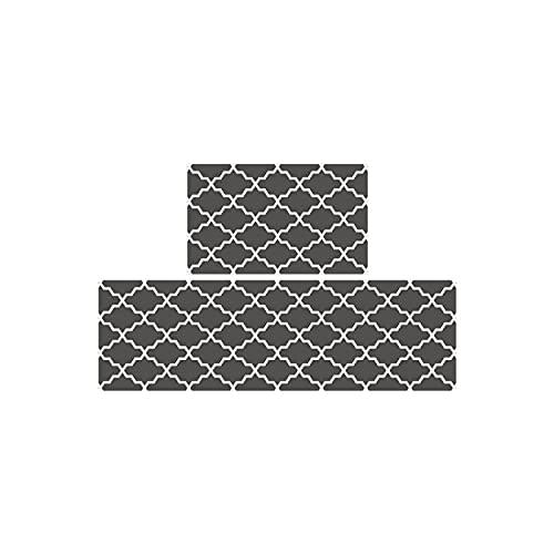 WEUROPESV Estilo nórdico Home PVC Long Kitchen Floor Mats, a Prueba de Agua a Prueba de Agua y alfombras de Cuero espesadas a Prueba de Aceite, fácil de cuidar