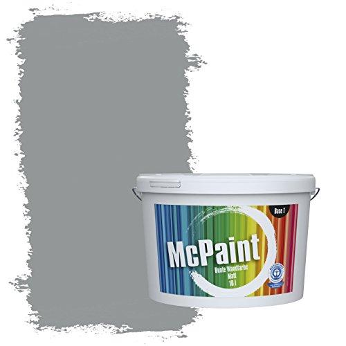 McPaint Bunte Wandfarbe Mausgrau - 10 Liter - Weitere Graue Farbtöne Erhältlich - Weitere Größen Verfügbar