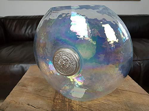 Colmore Flache Vase Blumenvase Medusa milchig Glas schmal 24x14x23 Amphore Milchglas