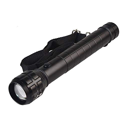 Heavy Duty Big Torch Light XP-E Q5 LED fotolamp D-grootte accu reflector metaal lantaarn zaklamp 30.7 * 5.4cm zwart.