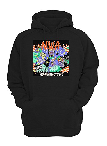 NWA Straight Outta Compton Cartoon Design Unisex Pullover Hoodie Large