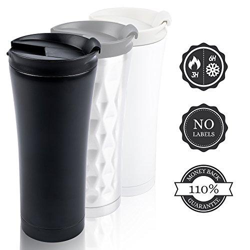 professionnel comparateur Petite tasse à café Pure Design 450ml Noir |  Scellant |  Isolateur |  Séparation |  Double face… choix