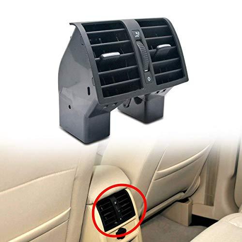 HugeAuto Rejilla de ventilación trasera para salpicadero de color negro para consola central de aire acondicionado V VV Touran Caddy 2004-2015