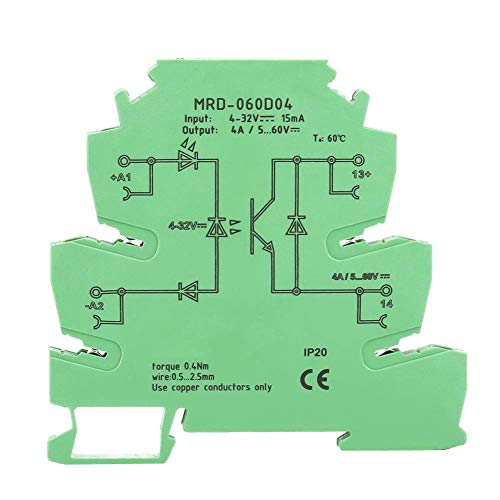 Nologo YO-TOKU Solid State Relay Module,MRD-060D4 Ultra-Thin PLC Relay Power Amplifier Board DC Solid State Relay Module Modules CE
