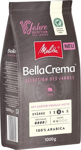 Melitta BellaCrema Selection des Jahres, Ganze Kaffeebohnen, Stärke 3, 1kg