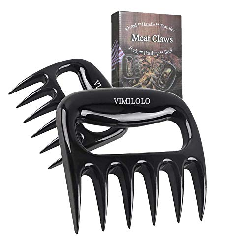 VIMILOLO BBQ Meat Shredder Claws - Pulled Pork Claws BBQ Grill Accessories for Barbecue Meat Claw